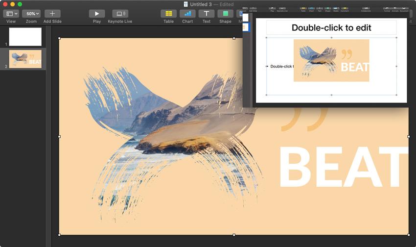 Import PDF to Keynote view thumbnail