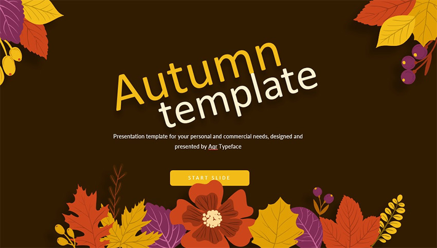 Free Fall autumn PowerPoint templates