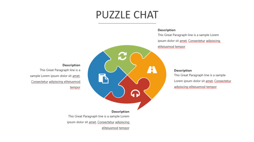 Jigsaw in PowerPoint Template