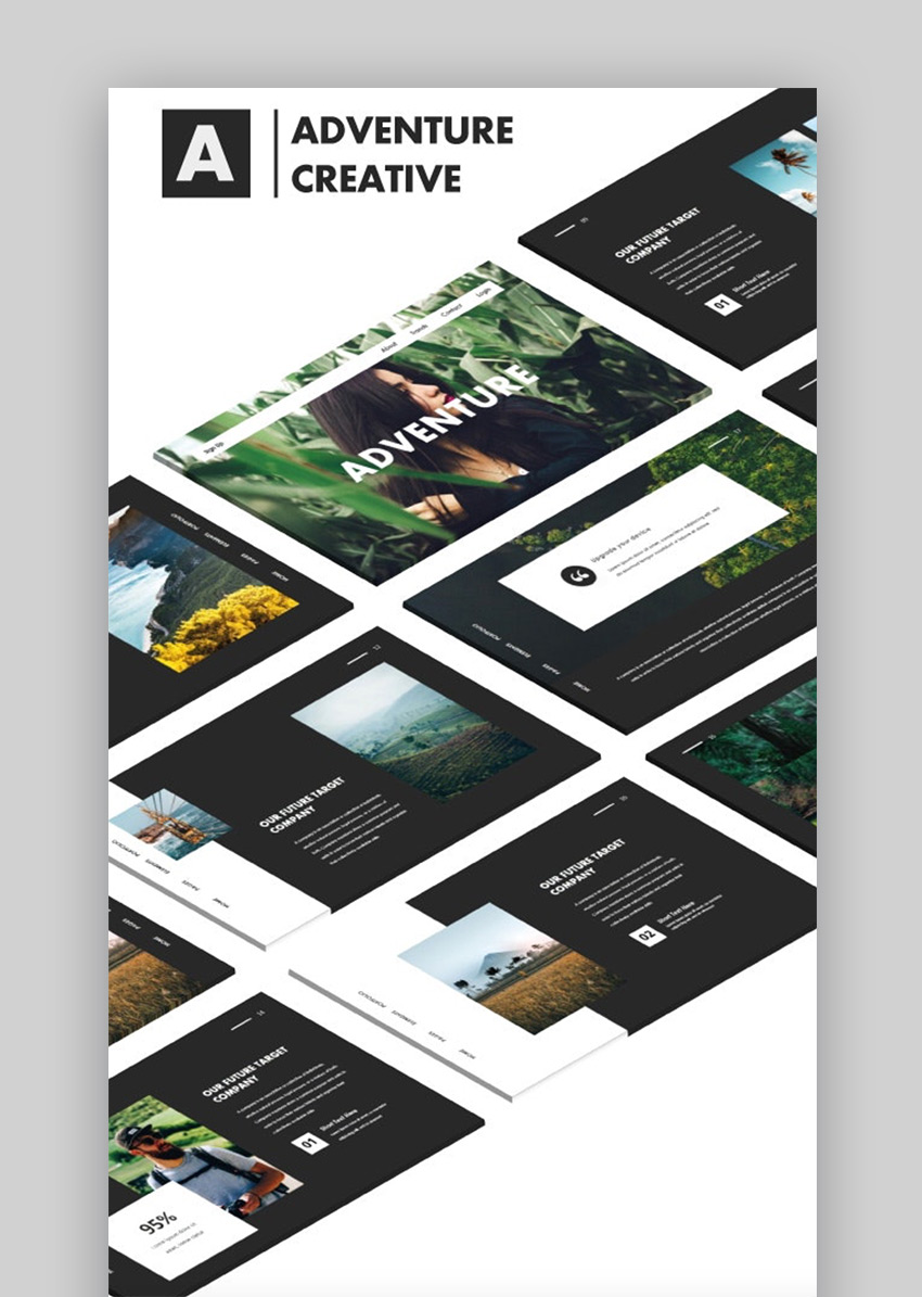 Adventure Creative Minimal PPT template
