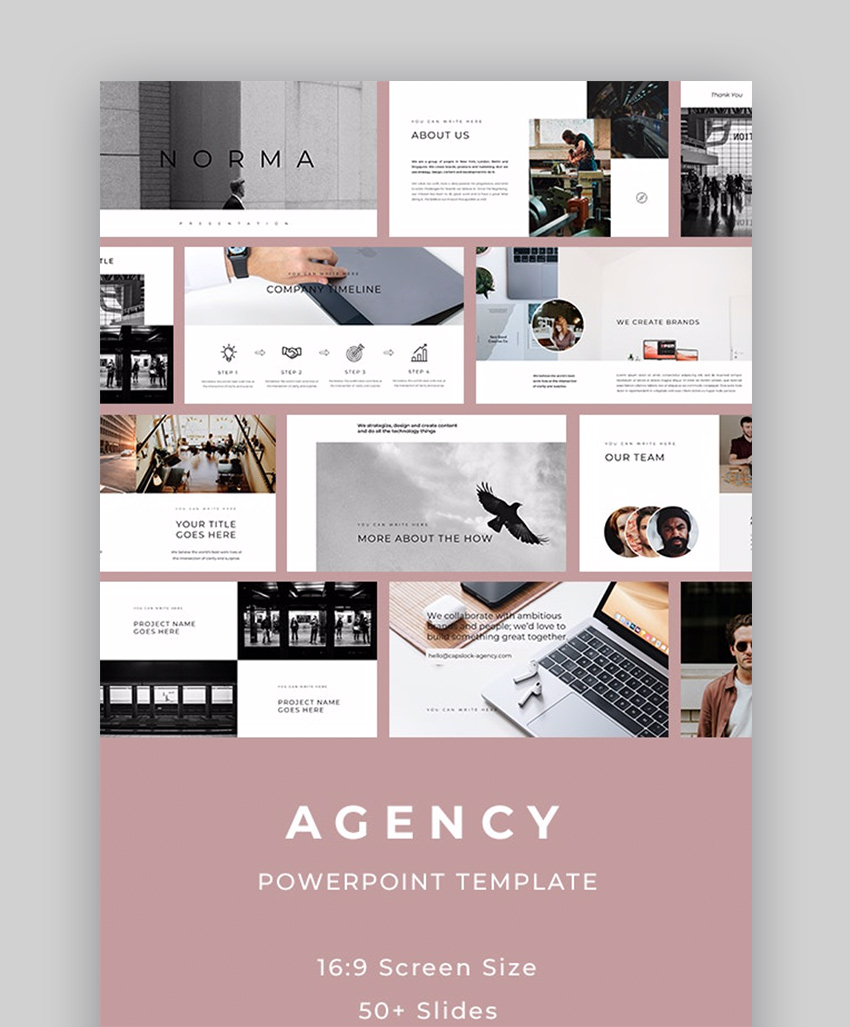 35 Clean Powerpoint Templates Ppts With Minimalist Designs For 2020