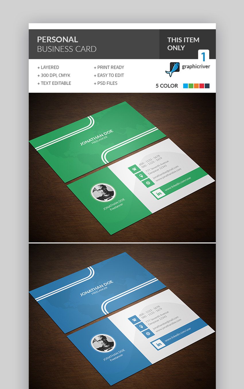 Personalized business card template