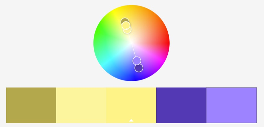 Complementary color schemes