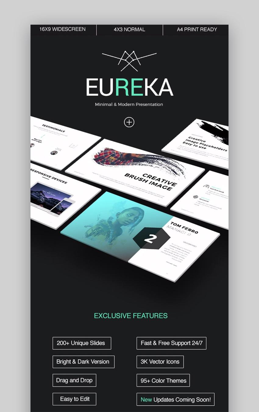 Eureka - Plantilla de PowerPoint Minimalista