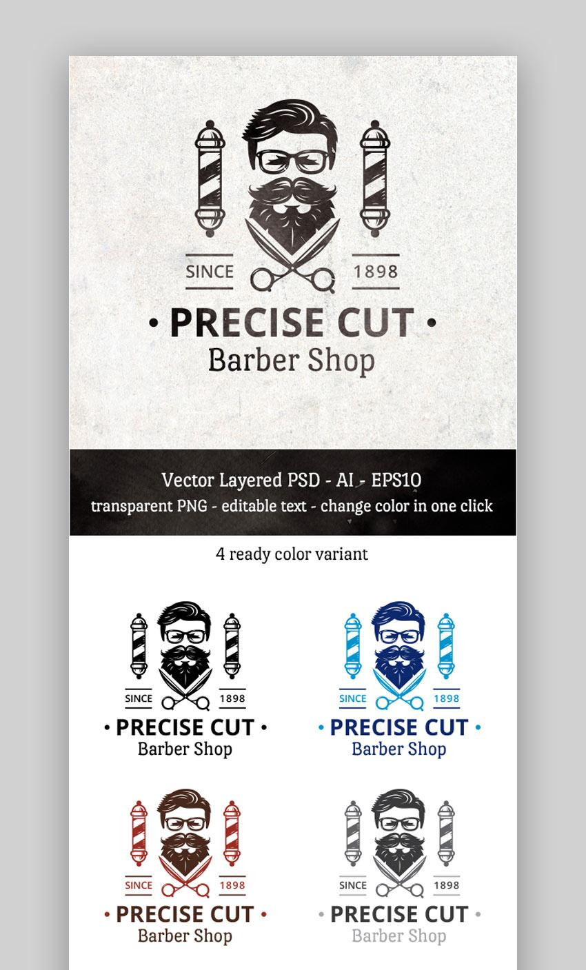 Precise Cut Barber Shop logo