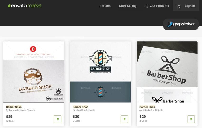 GraphicRiver Barber Shop Assets