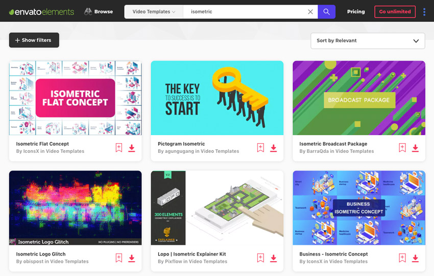 Isometric Video Templates on Envato Elements