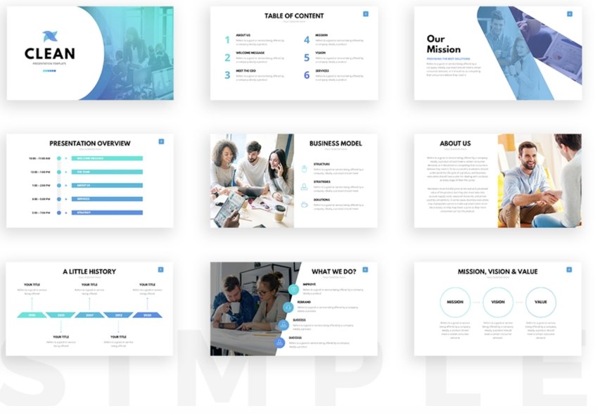 25 Free Simple Powerpoint Ppt Template Designs To Download