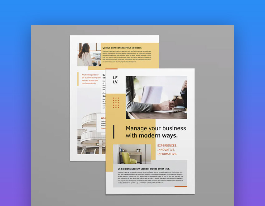 Adobe InDesign template