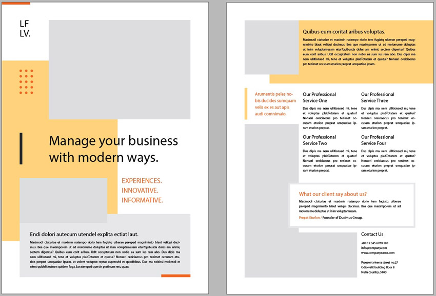 Creative InDesign Flyer Layout