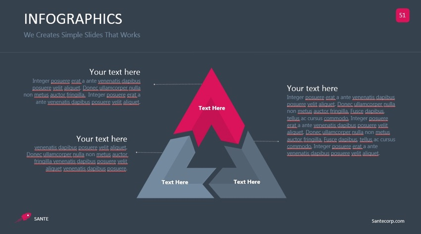 PowerPoint infographic triangle slide