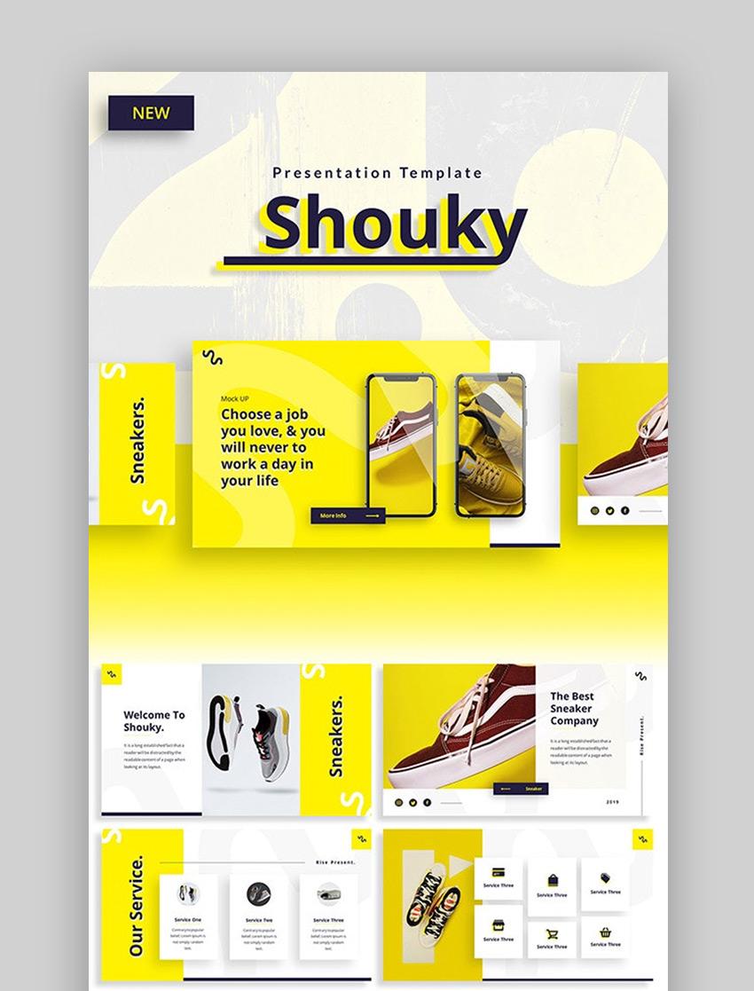Shouky – plantilla PowerPoint para negocio creativo