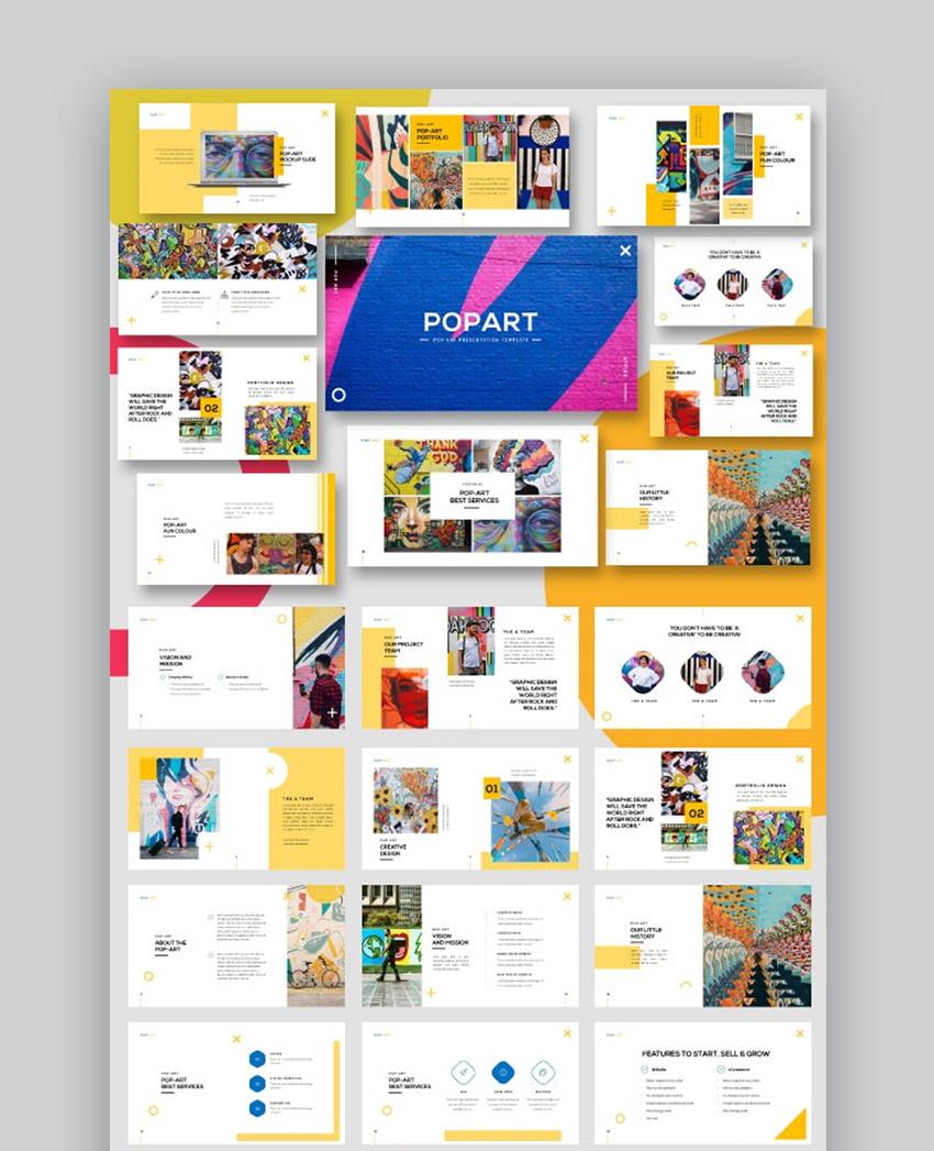 Pop Art - plantilla PowerPoint de agencia creativa