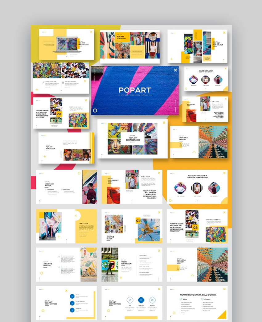 Pop Art Creative Presentation template