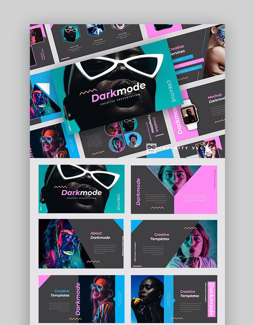 Darkmode PowerPoint creativo