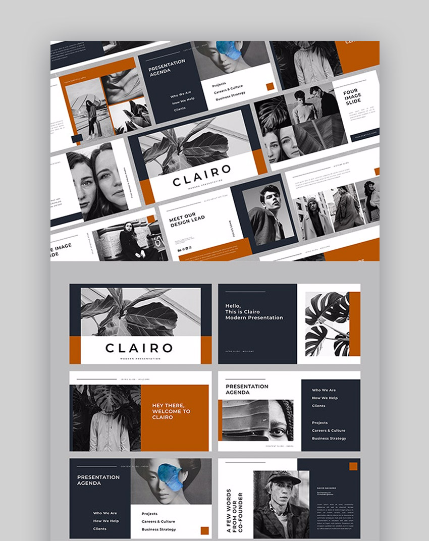 Clairo Presentation layout ideas
