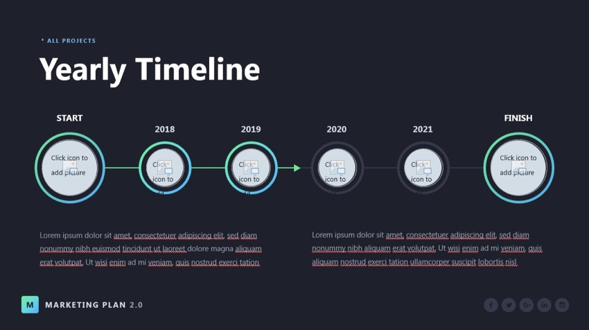 Timeline in Marketing plan presentaiton PPT