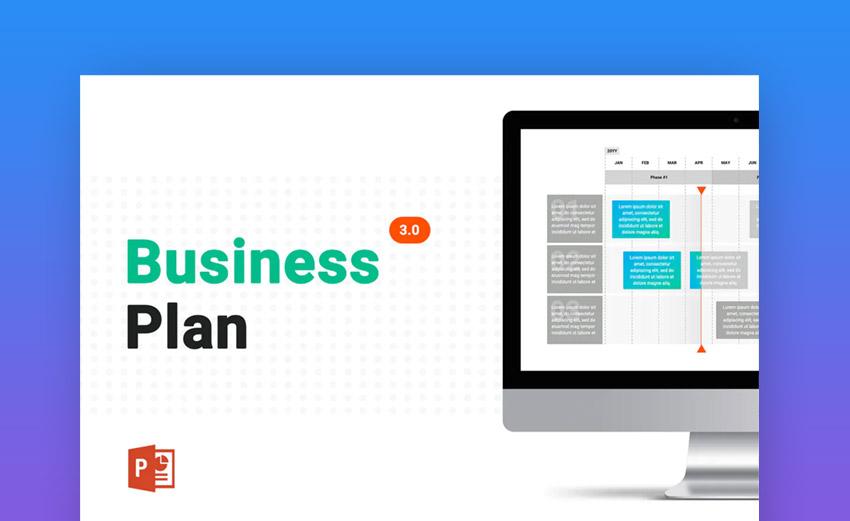 Business Plan 30 PowerPoint template