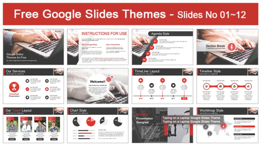 Google Slides theme for tech