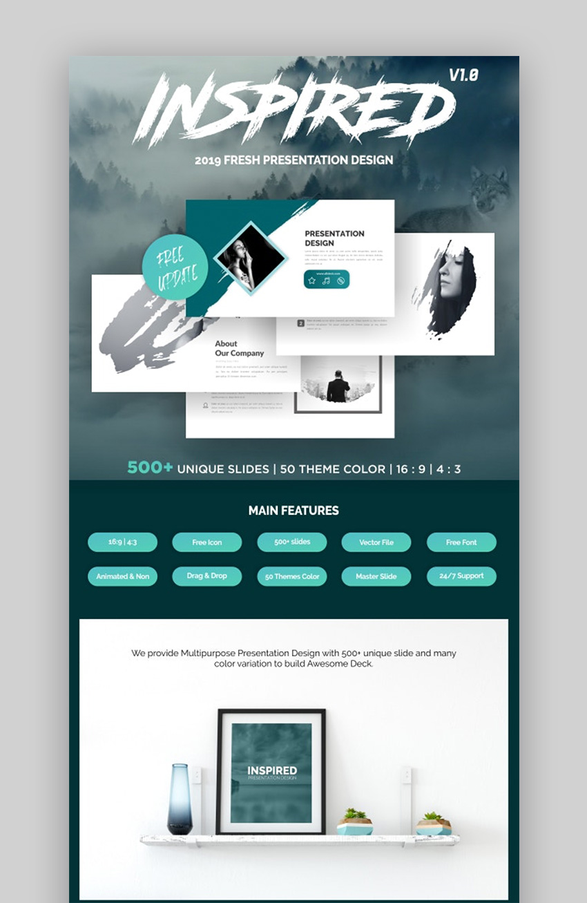 Inspired Multipurpose Google Slides Theme