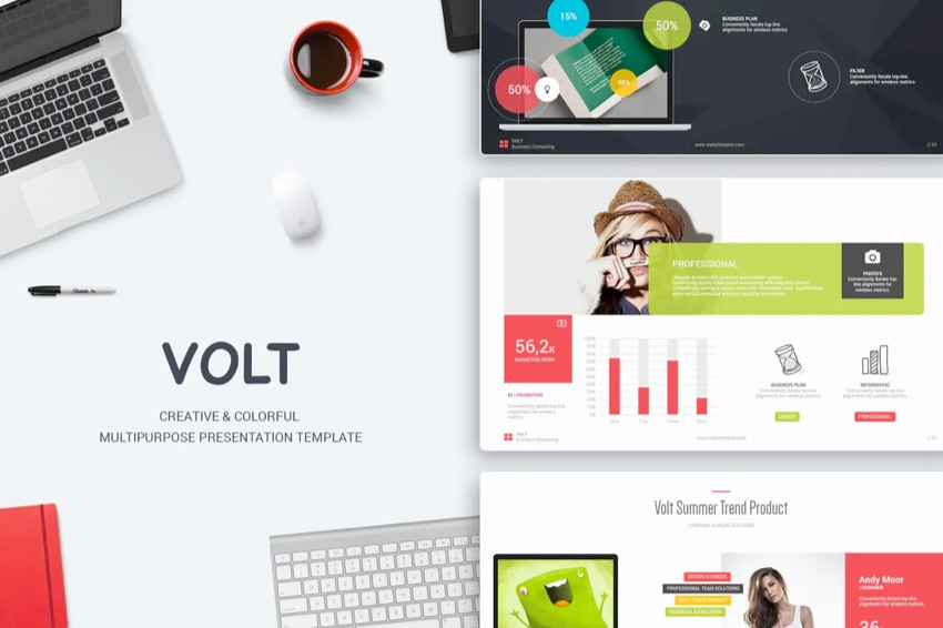 Volt PowerPoint template