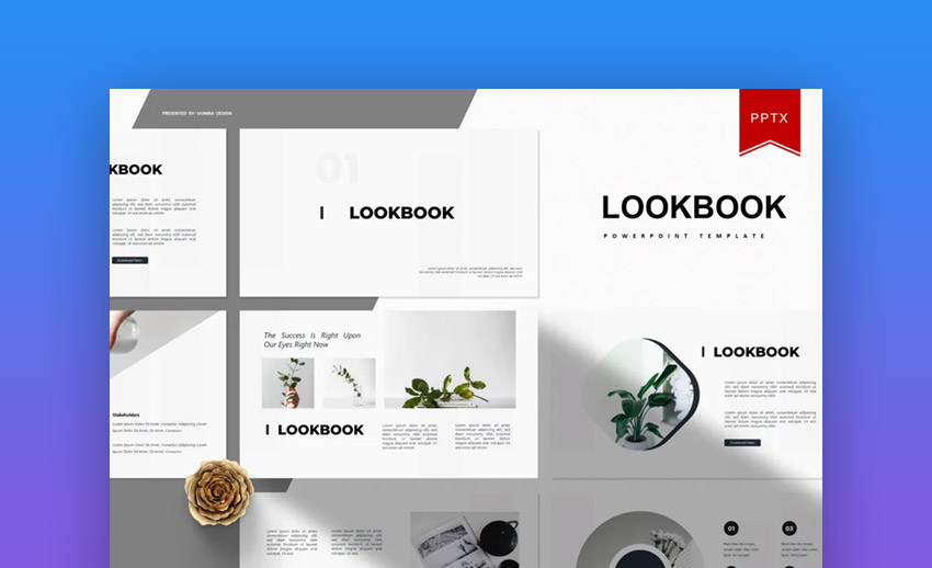 Lookbook PowerPoint template