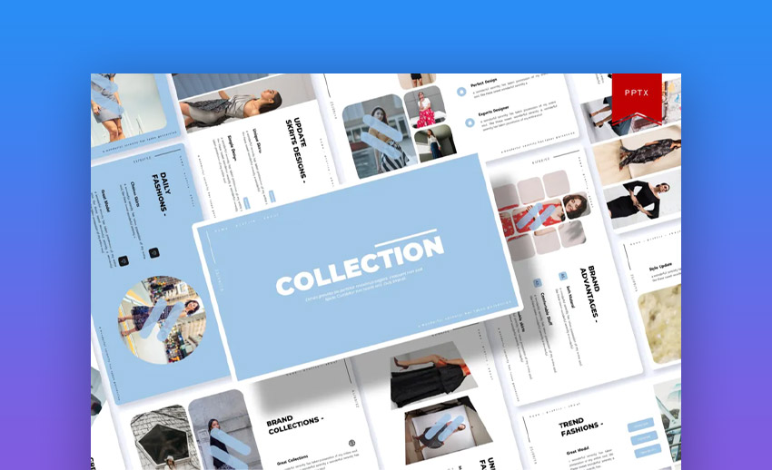 Collection PowerPoint template