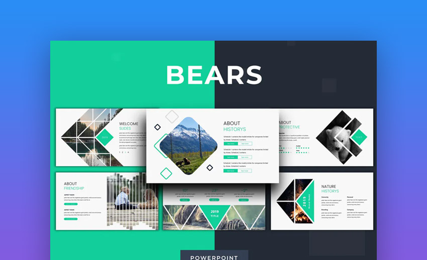 Bears PowerPoint template