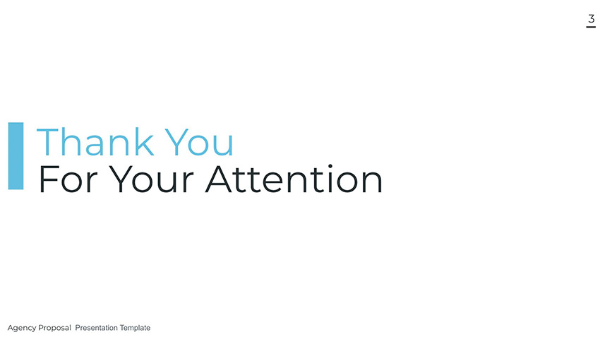 Agency thank you slide for presentation