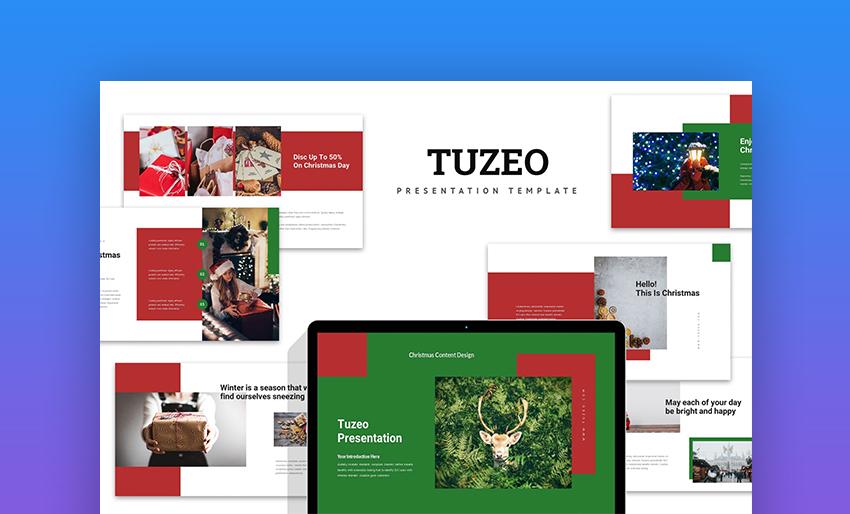 Tuzeo Christmas Event Promo PowerPoint