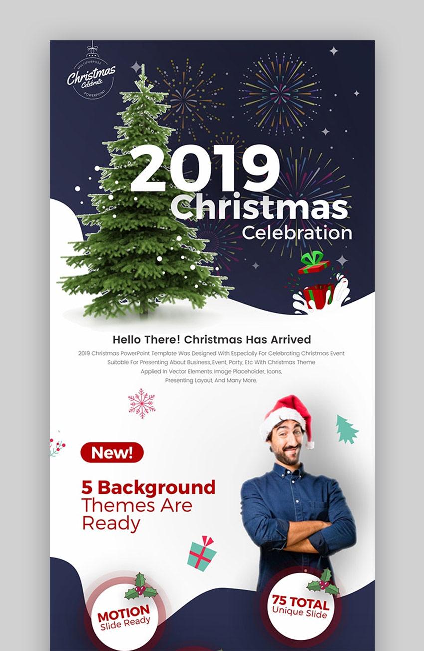 2019 Christmas Celebration PowerPoint Template