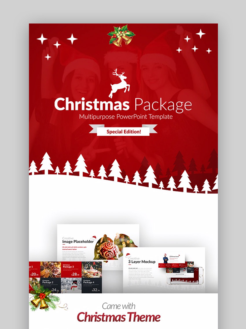 Christmas Package business PowerPoint Template