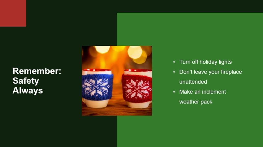 Christmas Safety reminder