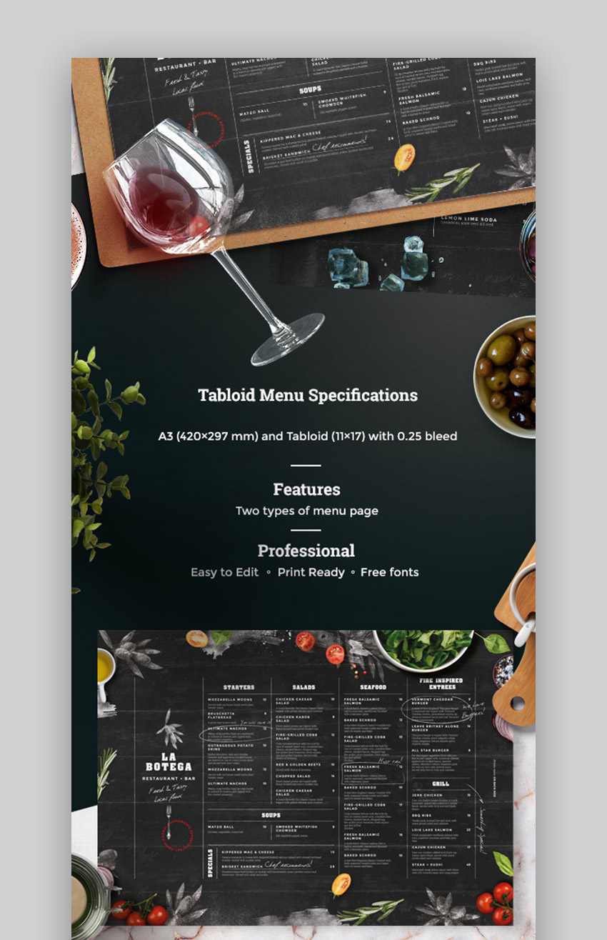 20 Plantillas Geniales De Menus De Restaurantes Los Mejores Disenos Modernos Para El 2020