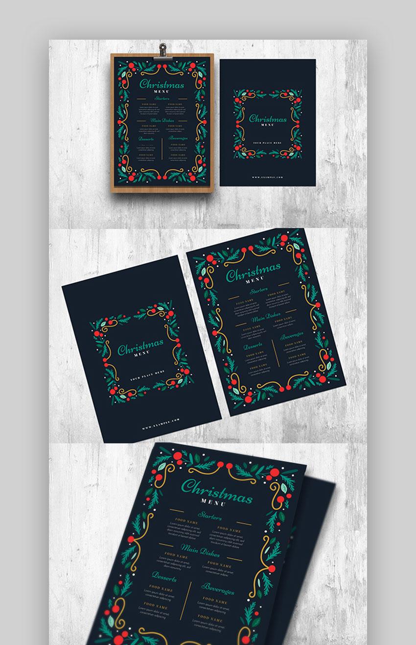 Restaurant menu design ideas for Christmas