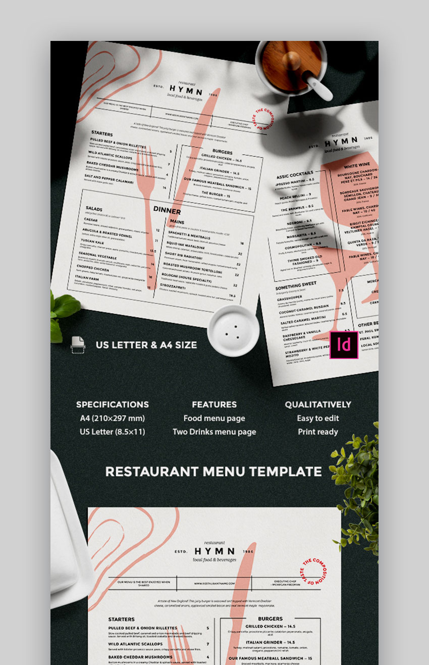 Creative menu design ideas