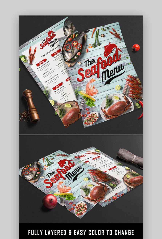 Cool seafood menu templates