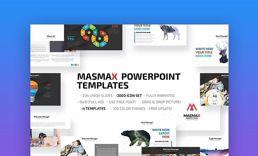 Masmax PowerPoint template
