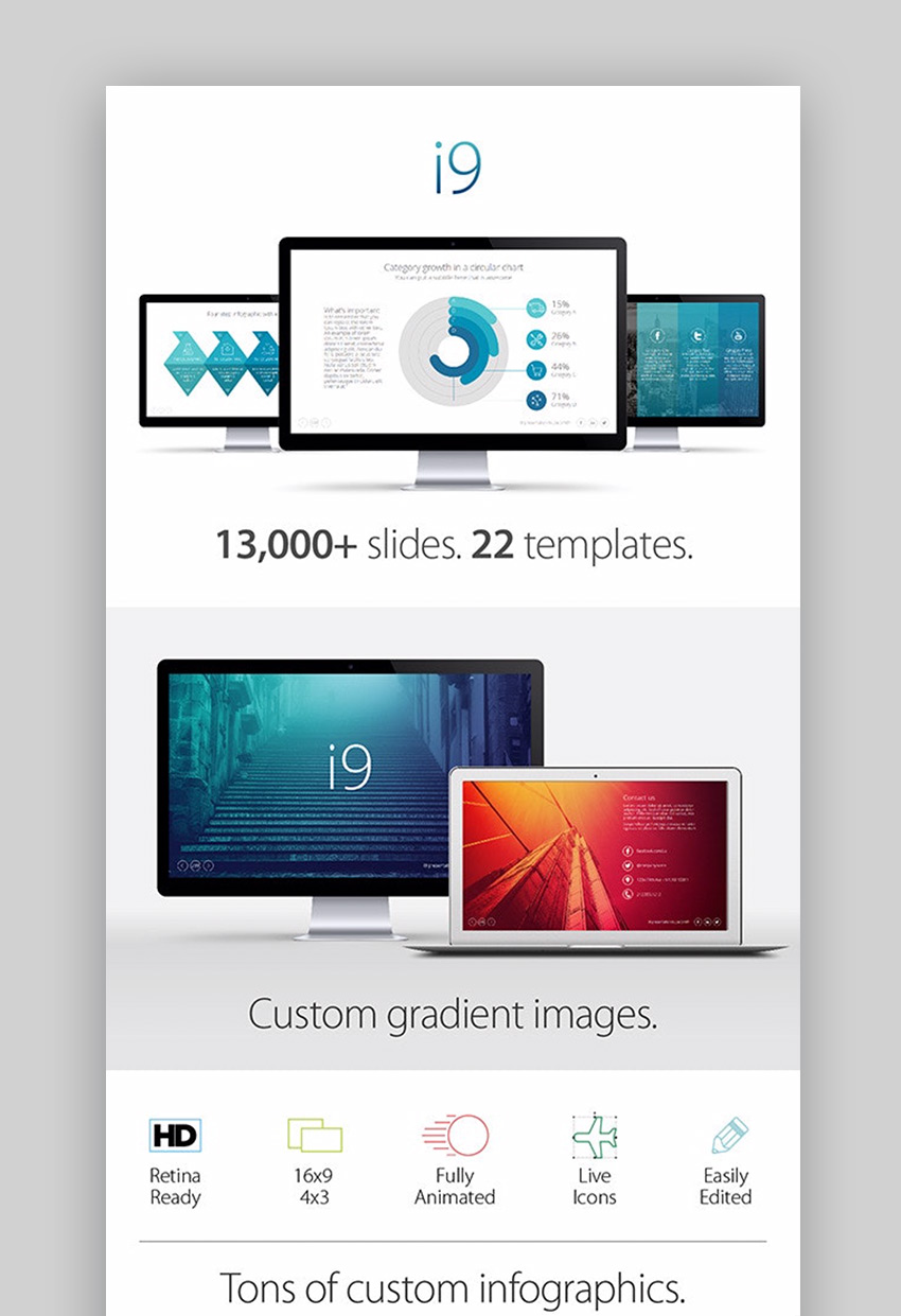 i9 Template System PowerPoint background