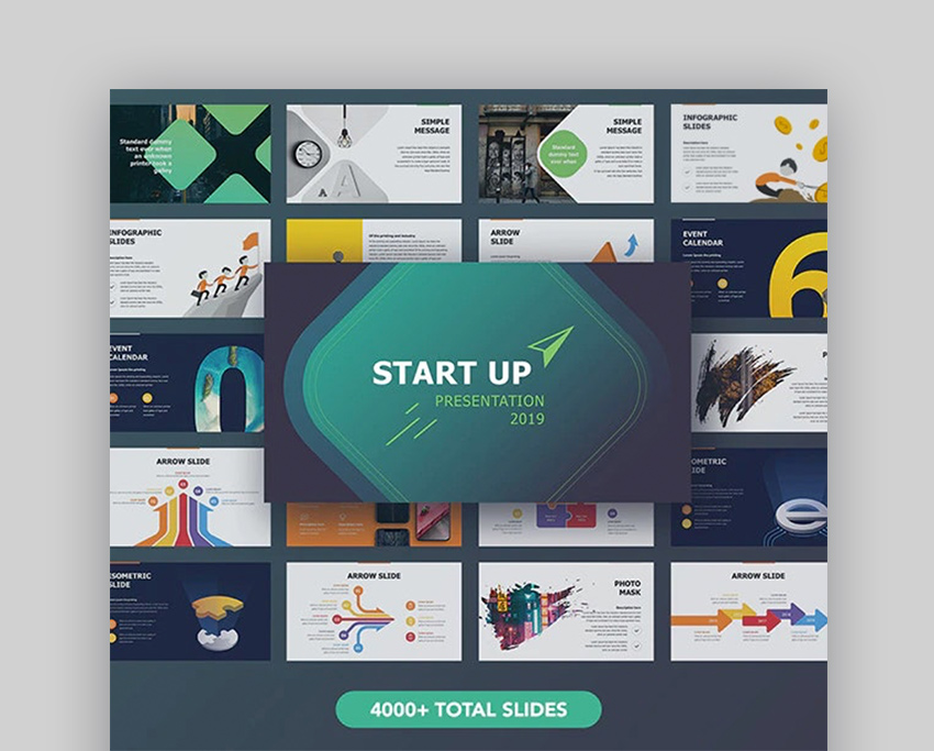 Startup Microsoft PowerPoint backgrounds