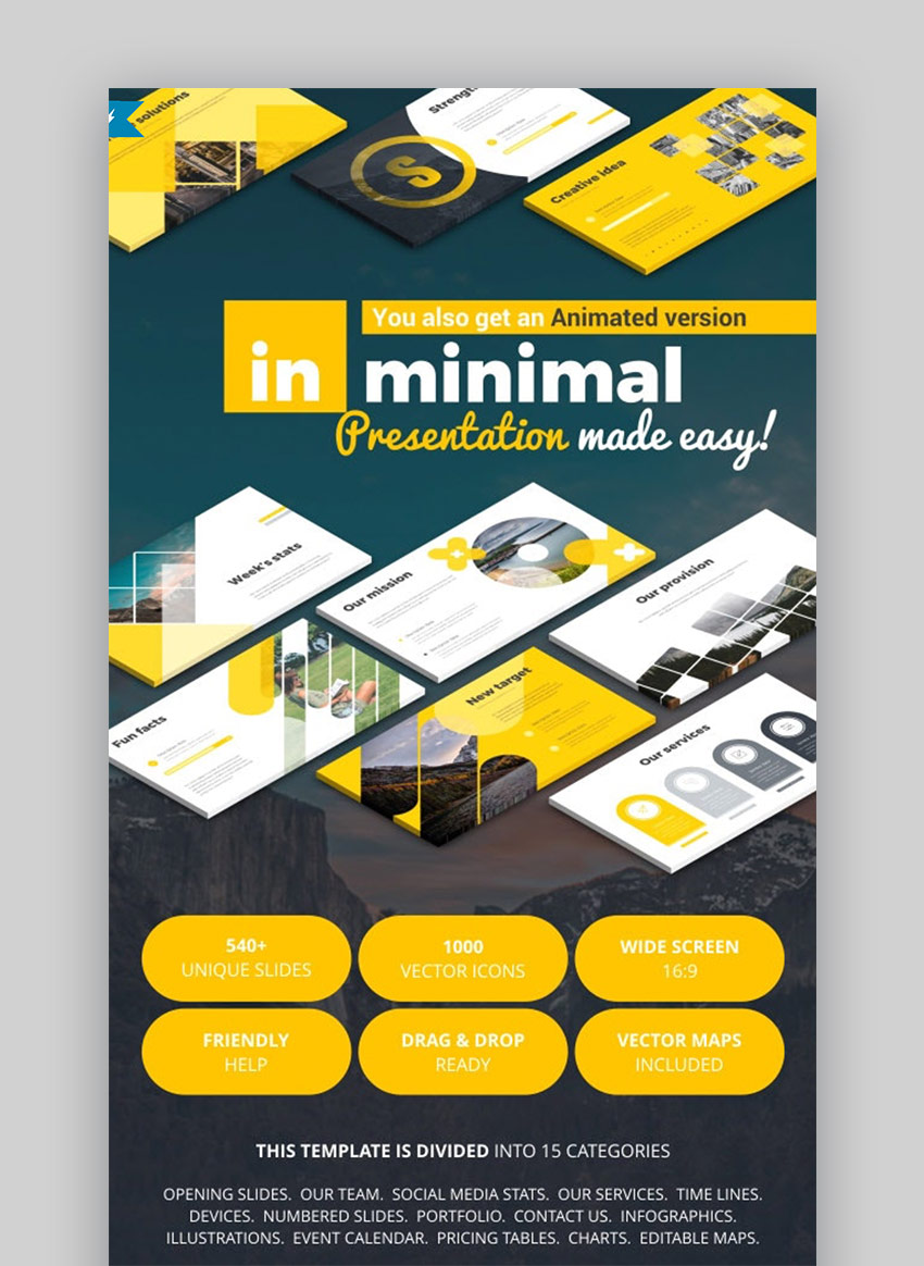 In minimal PowerPoint template