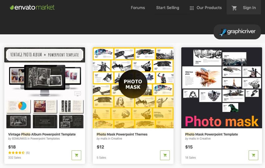 GraphicRiver PowerPoint Photo Album templates