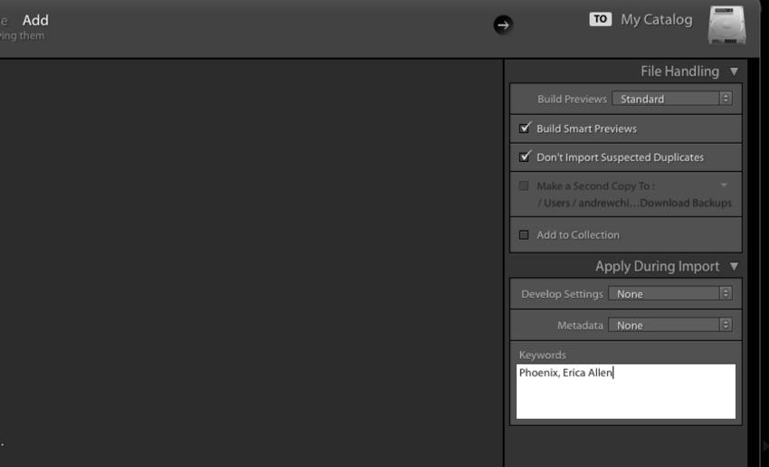 Add keywords on import