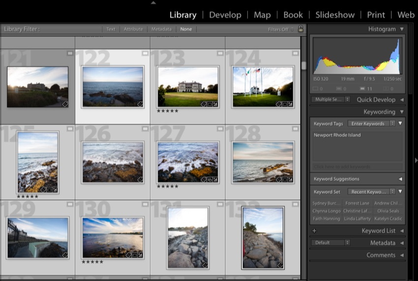 Multi select images to keyword