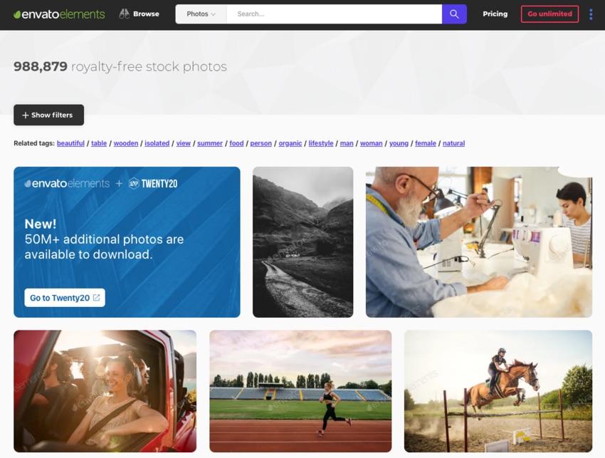 Envato Elements PowerPoint images