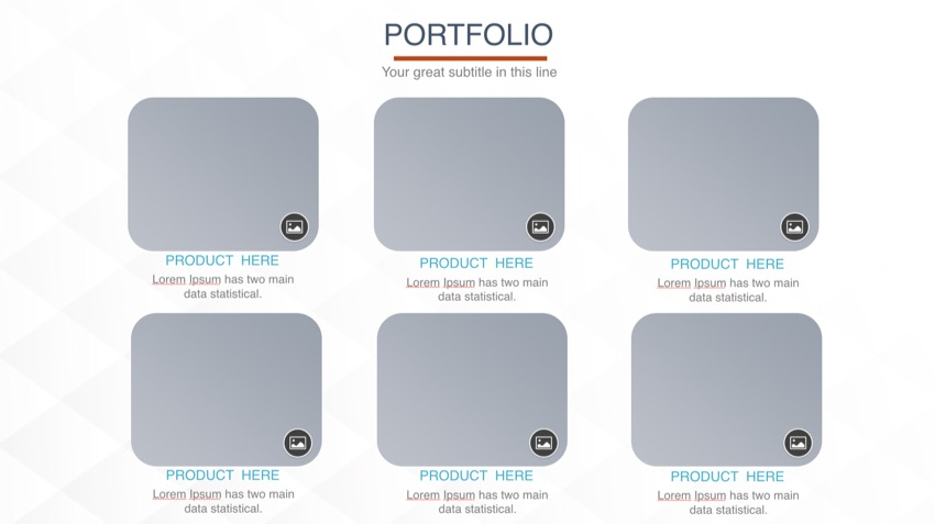 Portfolio Slide before