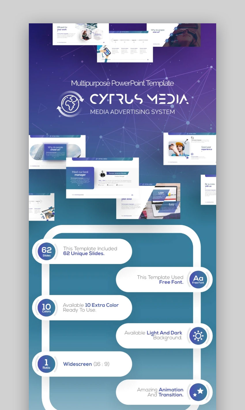 Cytrus Business PowerPoint templates