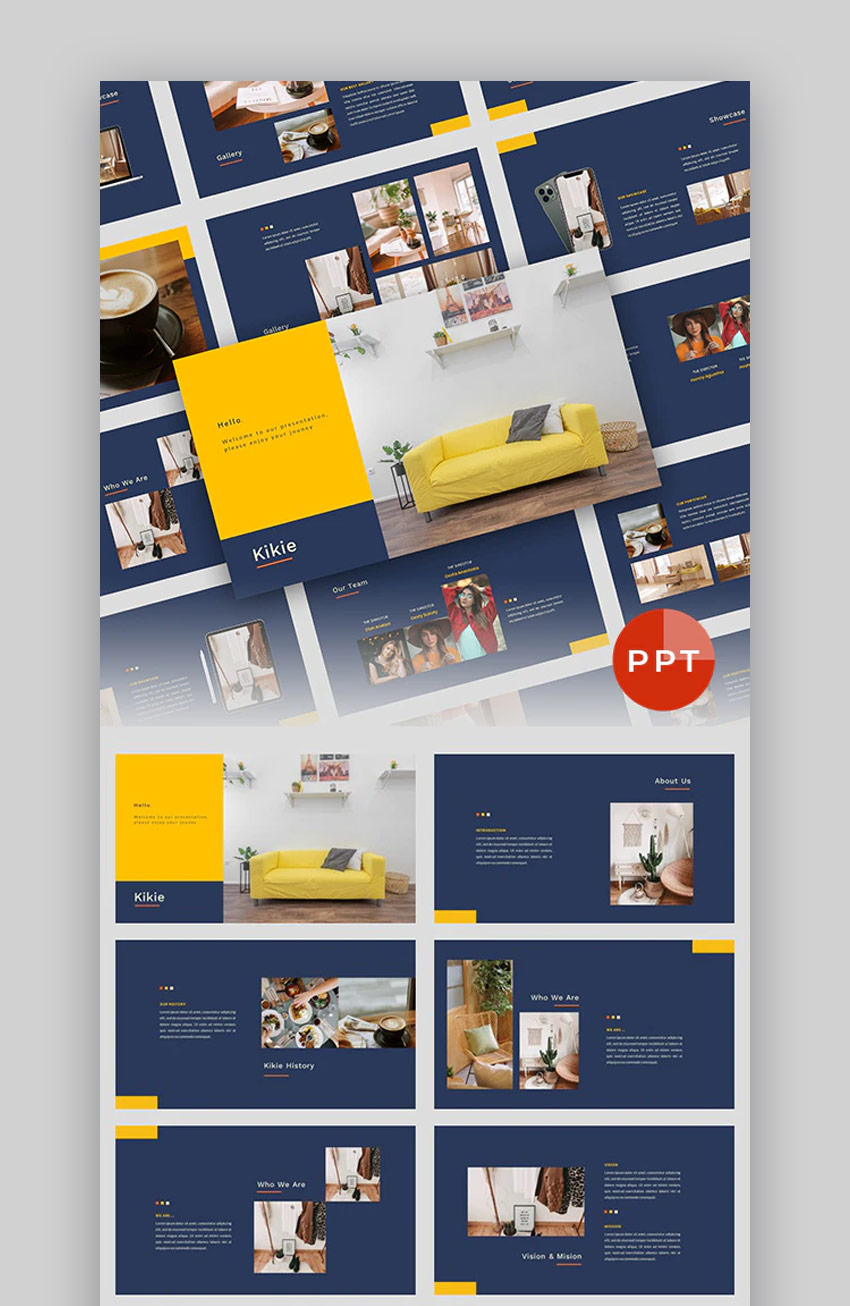 Kikie Creative Business PowerPoint template