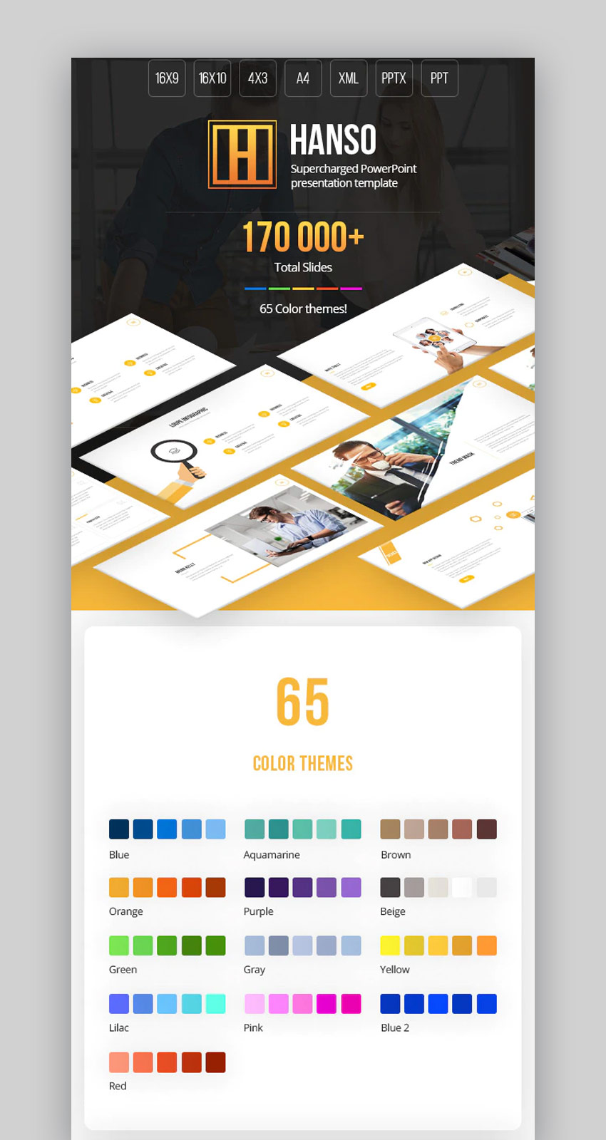 Hanso multipurpose PowerPoint design template