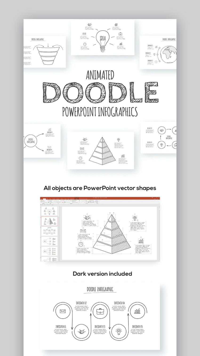 Doodle PPT template design
